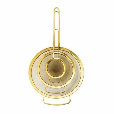 Gold Strainers S/3