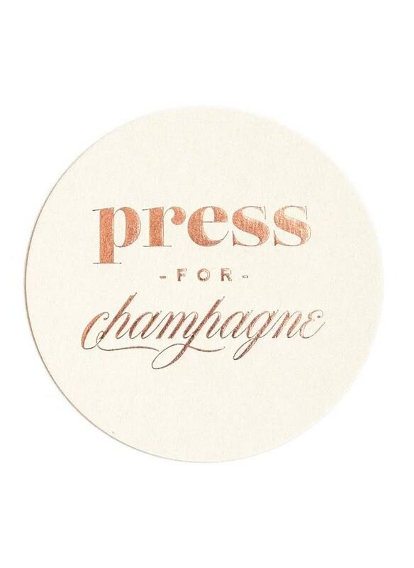 Press For Champagne Coasters