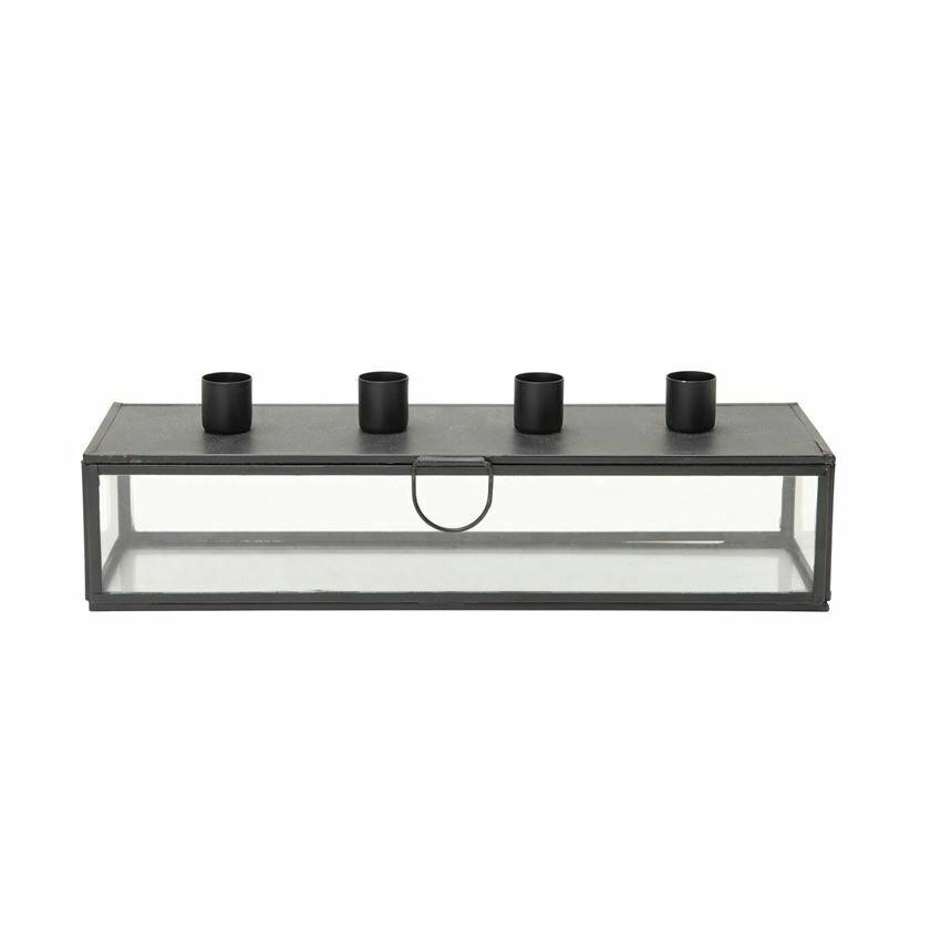 Metal and Glass Taper Display Box