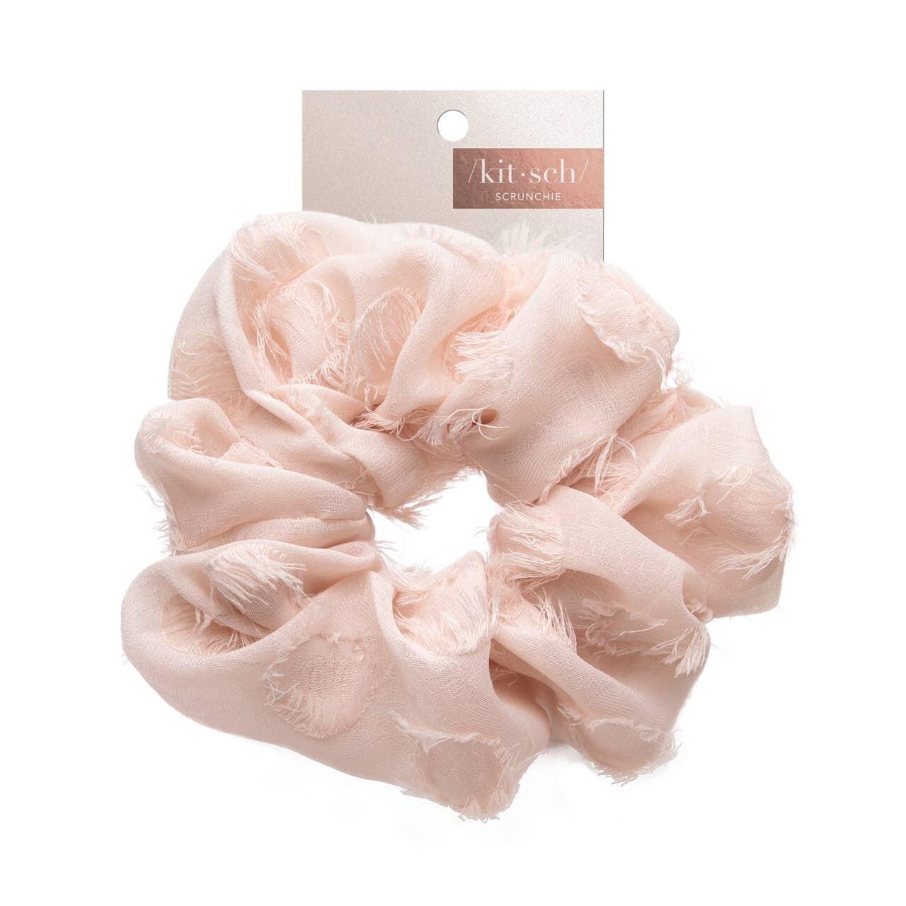 Brunch Scrunchie- Frayed Pink