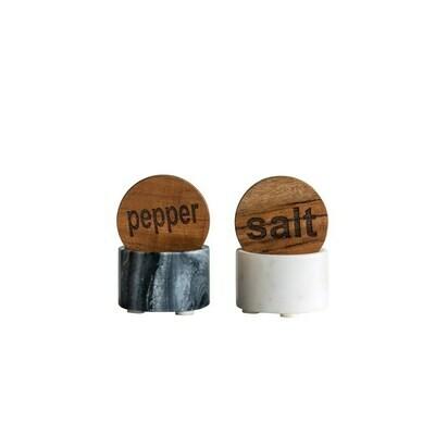 Salt and Pepper w Lid