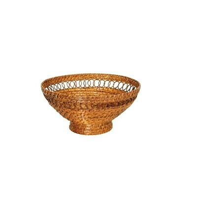 Rattan Footed Bowl