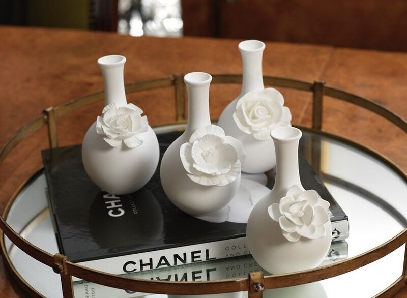 Cameo Porcelain Bud Vase
