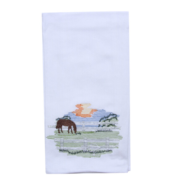 Horse Farm Tea Towel