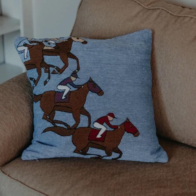 Horse Racing Pillow