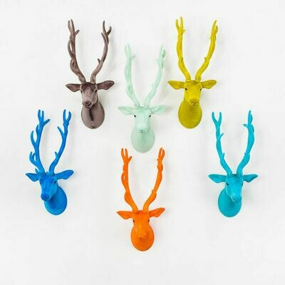 Flocked Deer Wall Mount