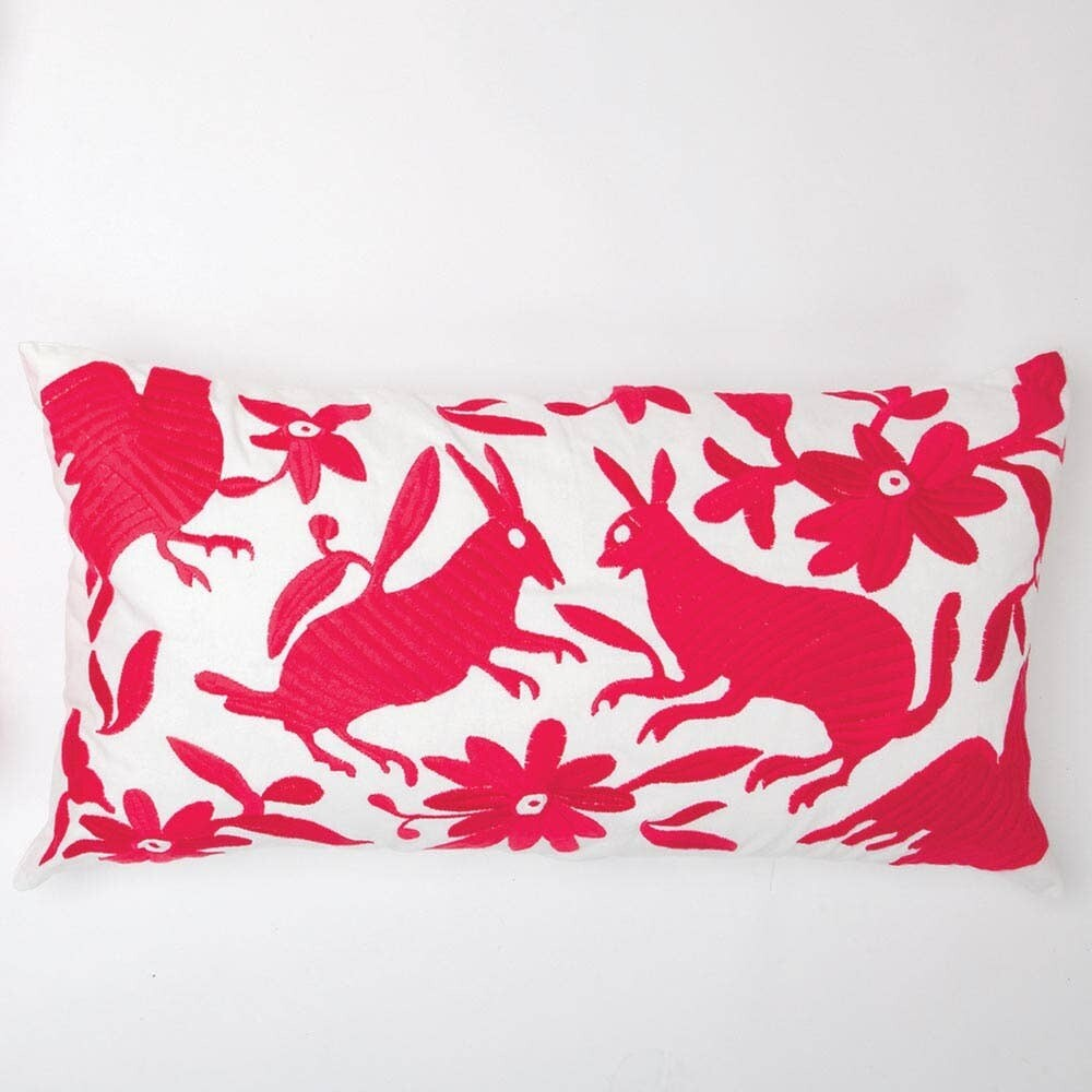 Folk Art Pillow- Pink
