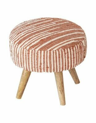 Handwoven Stool- Terracotta