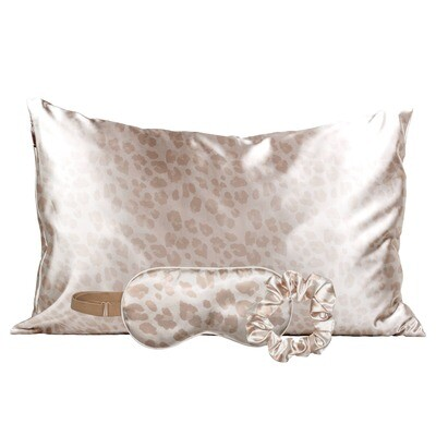 Satin Sleep Set- Leopard