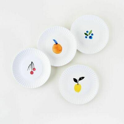 Melamine Fruit Plates S/4