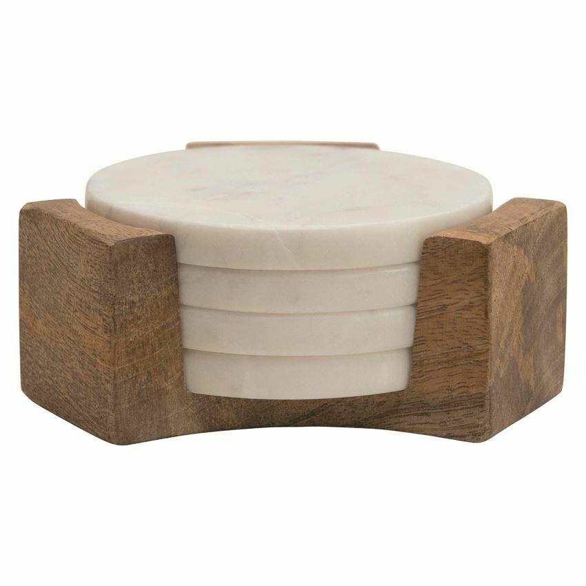 Marble/Wood Coasters