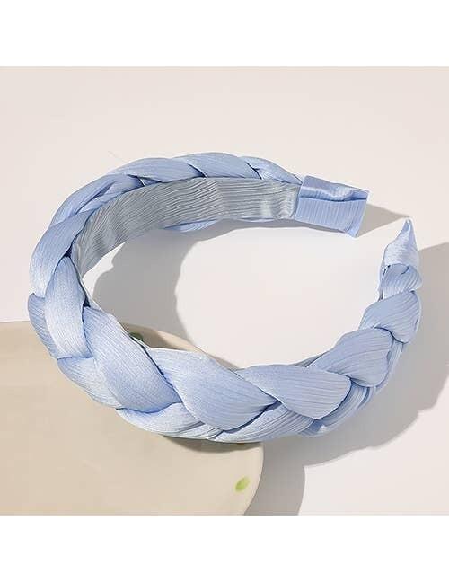 Braided Headband- Blue