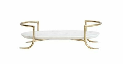 Marble Tray/Brass Stand