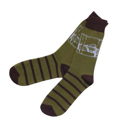 Bourbon Glass Socks