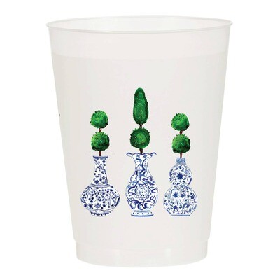 Topiary Cups S/10