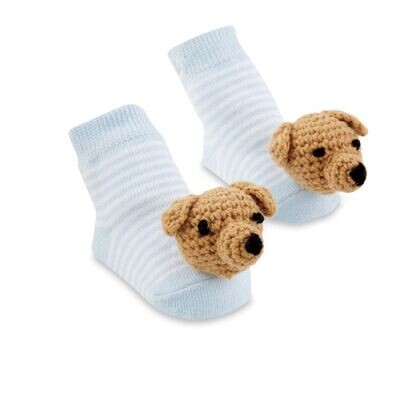 Blue Dog Rattle Socks