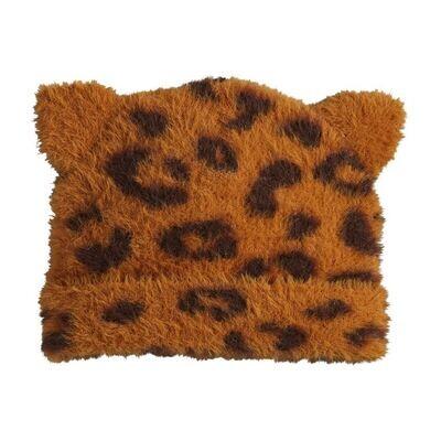 Kids Leopard Hat- Brown
