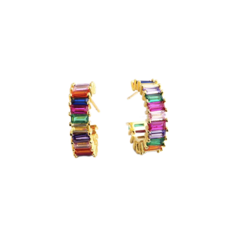 Rainbow Hoop Earring