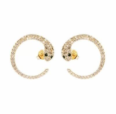 Curved Snake Earrings