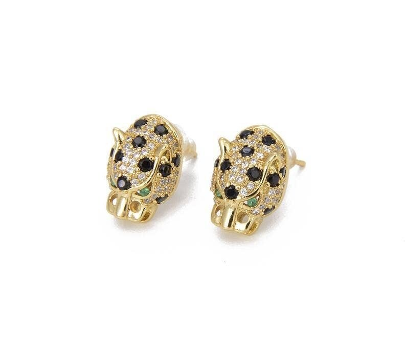 Leopard Pave Earrings