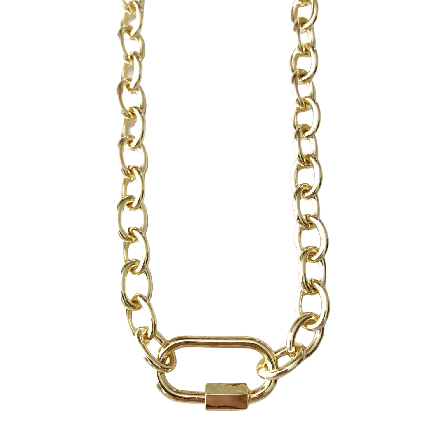 Chunky Carabiner Necklace