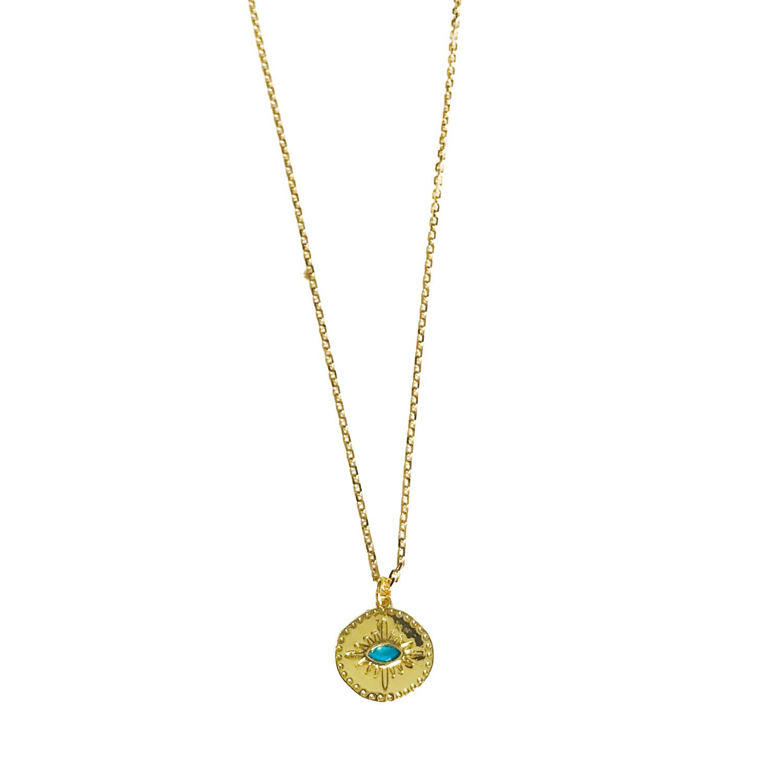 Evil Eye Necklace- Blue