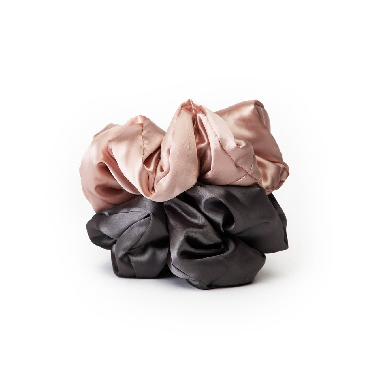 Satin Pillow Scrunchies- Bl/Gr