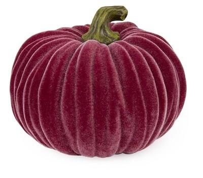 Velvet Pumpkin- Lg Burgandy