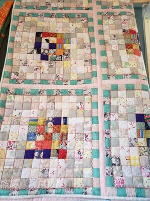 Large Postage Stamp Quilt