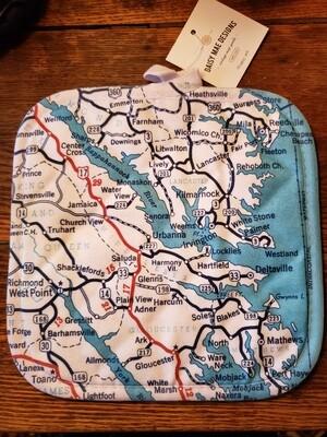 Urbanna Map Hot Pads & Towels