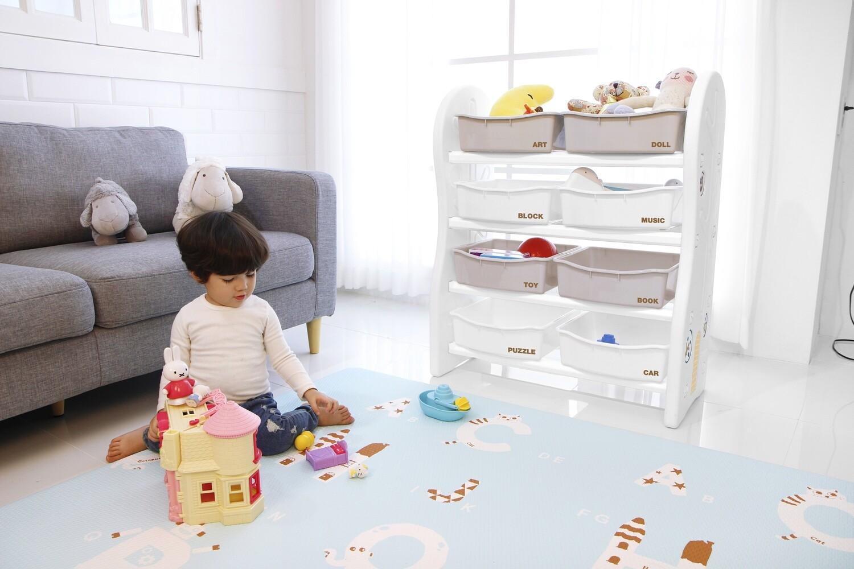 Стеллаж для игрушек DesignToy-1 Бежевый