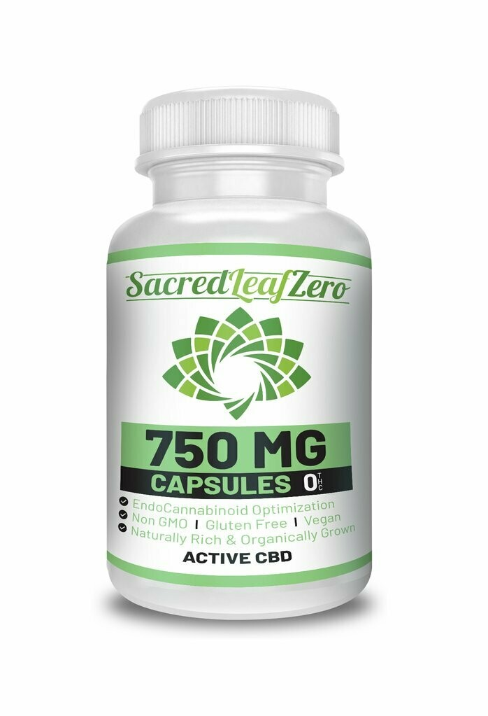 Concentrated Hemp Oil Capsules 750 mg