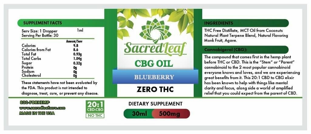 CBG Oil 20:1 CBD to CBG Hemp OG
