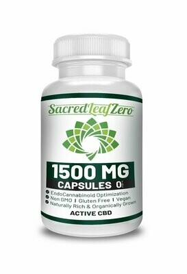 Concentrated Hemp Oil Capsules 1500 mg