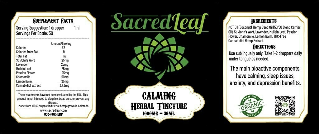 CBD Herbal Tincture 1000mg
