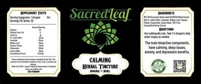 CBD Herbal Tincture 1000mg