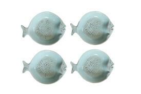 Aqua Fish Shape Ceramic Dish Set