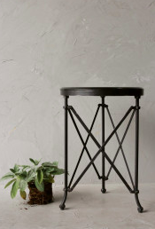 Black Table w/Marble Top