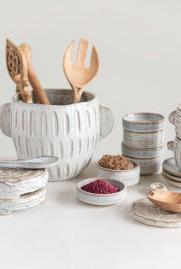 Stoneware Reactive Glaze Planter