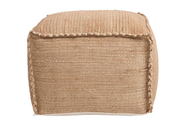 Hand -Woven Natural Pouf