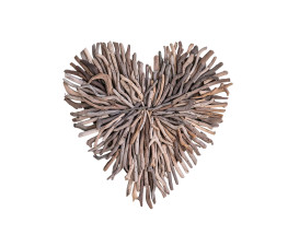 Driftwood Heart Wall Hanging