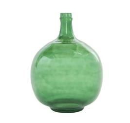 Vintage Reproduction Transparent Green Glass Bottle