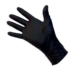 100pcs - Gants en nitrile - noir