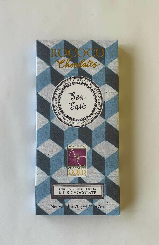 Rococo Organic Milk Chocolate Sea Salt Mini Bar