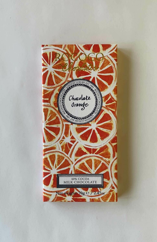 Rococo Milk Chocolate Orange Bar