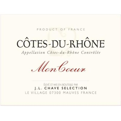 Chave Mon Coeur Cotes du Rhone - organic