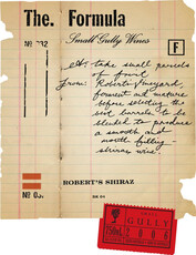 Small Gully Winery, Robert's Shiraz The FORMULA Adelaide Plains