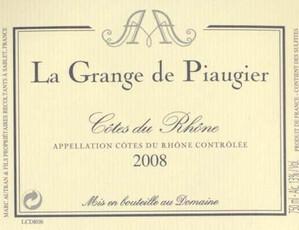 La Grange de Piaugier Cotes du Rhone - organic