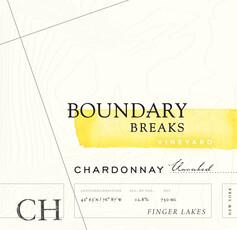 Boundary Breaks Unoaked Chardonnay Finger Lakes- sustainable
