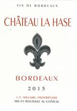 Chateau La Hase Bordeaux - organic/biodynamic